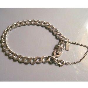 Vintage Monet Silver Bracelet Charm Horse Shoe